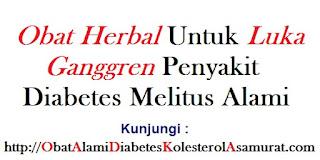Obat herbal untuk luka ganggren penyakit diabetes melitus alami