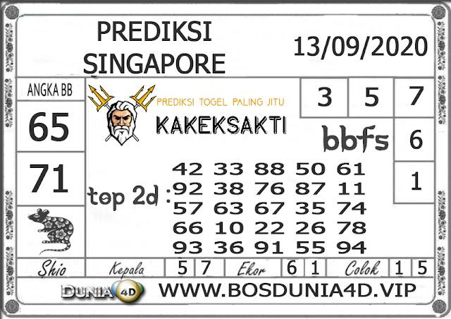 Prediksi Togel SINGAPORE DUNIA4D 13 SEPTEMBER 2020