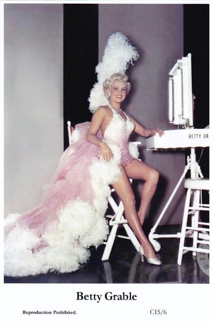 Betty Grable - postcard