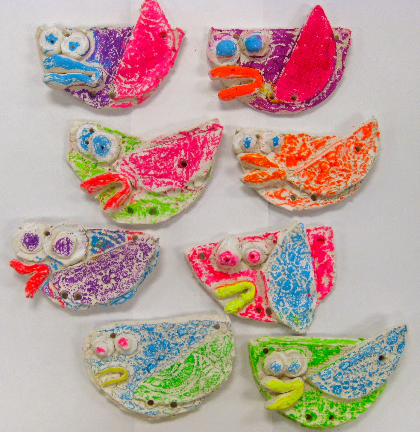Cassie Stephens In The Art Room Kindergarten Clay Birds