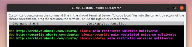 Custom Ubuntu ISO creator chroot