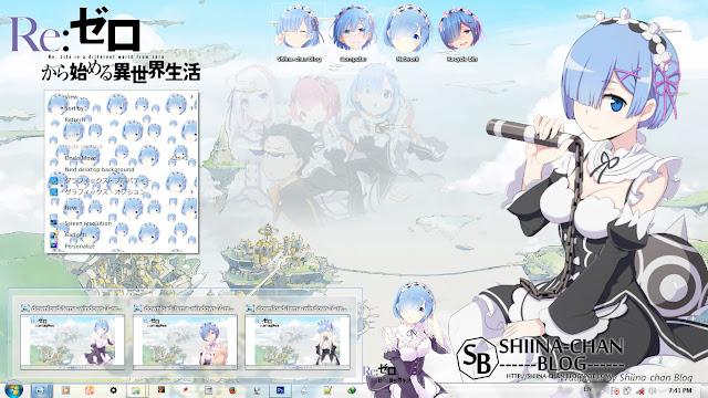 Download Tema Windows 7 REM - Re:Zero Hajimeru no Sekai