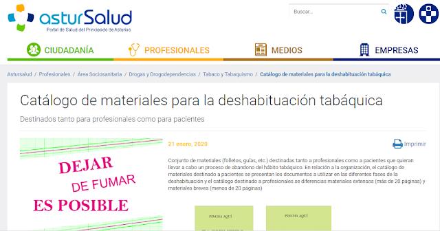 en la web de Astursalud, tenéis información para dejar de fumar