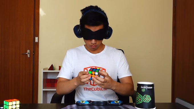 Tahap Menyelesaikan Rubik Dengan Mata Tertutup