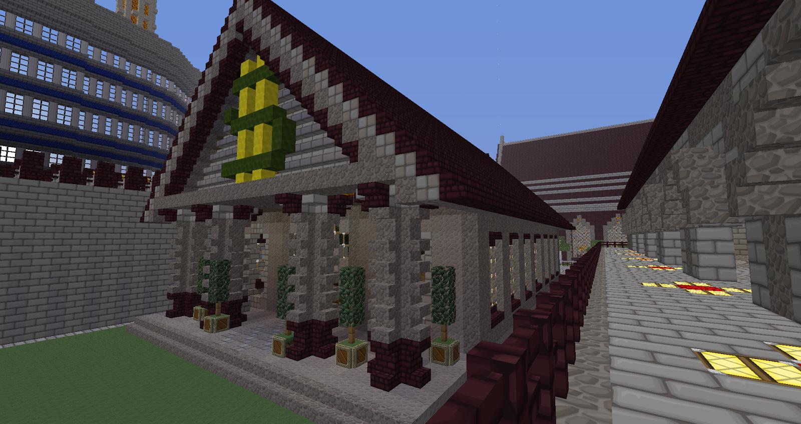 Minecraft Building Ideas: Server Bank