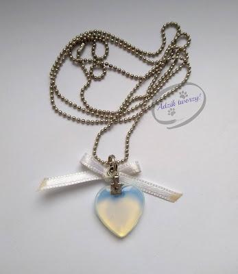 Długi naszyjnik z sercem