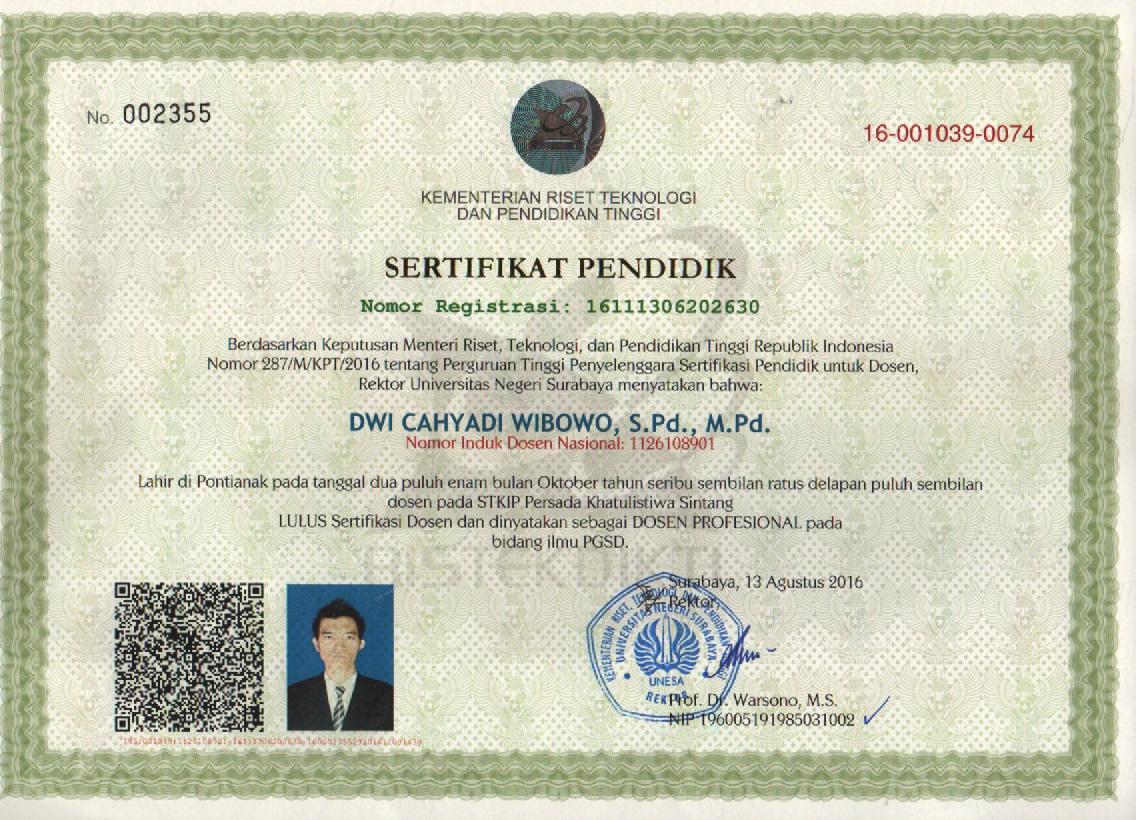 Dwi Cahyadi Wibowo Urutan Proses Sertifikasi Dosen Indonesia