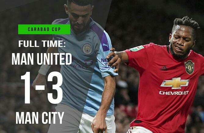 Manchester United 1-3 Manchester City: Rashford Goal Not Enough In 1st-Leg (Video Highlights)