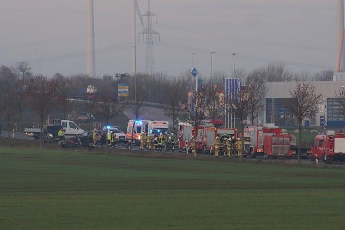 Schwerer Verkehrsunfall auf der B183 nahe Autohof