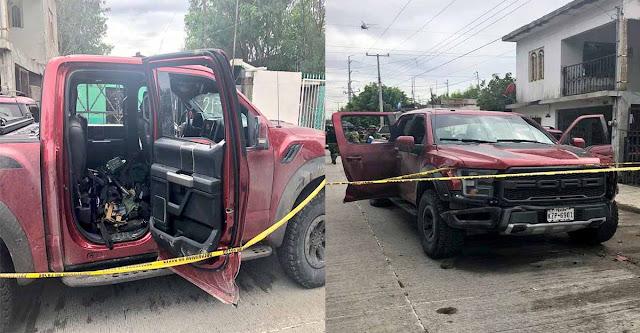 Sicarios del CDN viajaban en una Raptor, cargaban con 12 armas largas y un Barret pero se toparon con militares en Nuevo Laredo, Tamaulipas