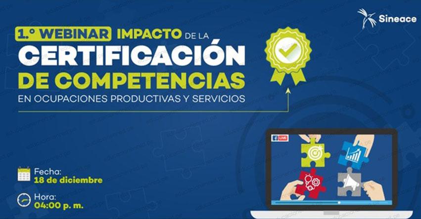 SINEACE presentará estudio sobre el impacto de la certificación de competencias en ocupaciones - www.sineace.gob.pe