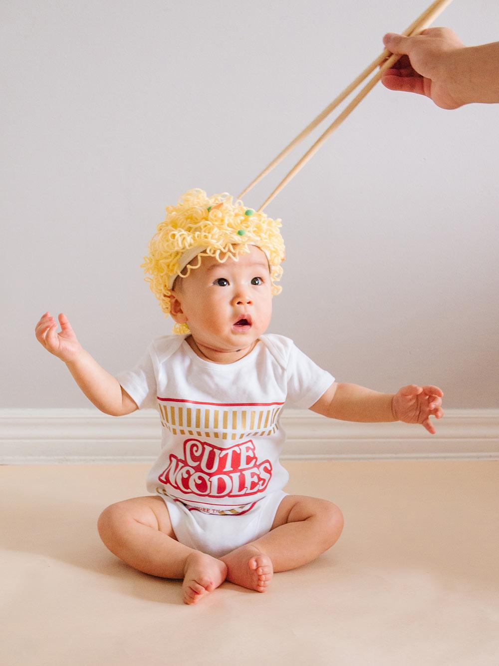 DIY Baby Cup Noodles Halloween Costume