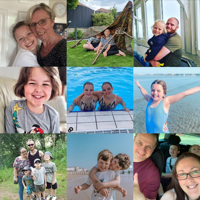 TBCSmiles July 2021 Collage of nine photos of Your Smiles