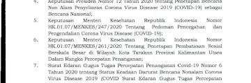 Surat Edaran Tentang Kriteria dan Persyaratan Perjalanan Orang Dalam Masa Pelonggaran PSBB Menuju Tatanan Baru