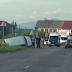 У Хусті біля АЗС перекинувся мікроавтобус