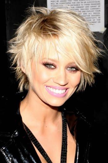 Peachy Kimberly Wyatt39S Full Layered Short Haircut Blondelacquer Short Hairstyles Gunalazisus