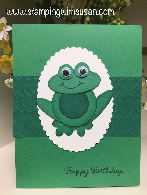Stampin' Up!, Leap Year Frog!, www.stampingwithsusan.com, Susan LaCroix, Punch Art,