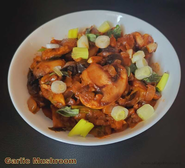images of Garlic Mushroom Recipe / Sauteed Mushrooms with Garlic / Easy Garlic Mushroom  - Indo Chinese Recipes