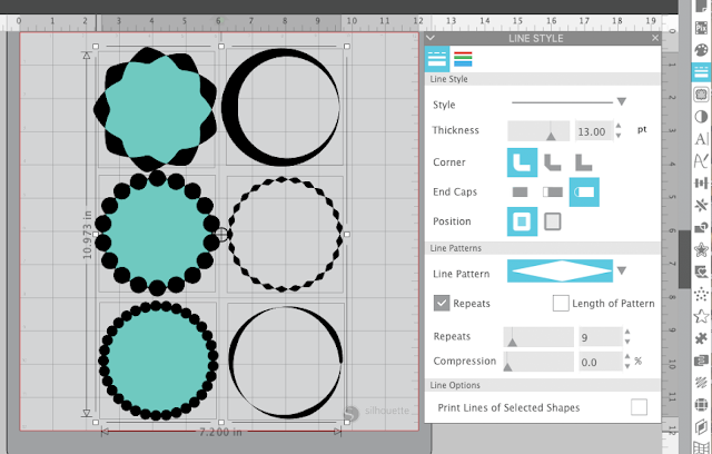 line patterns tool, line patterns, silhouette studio, silhouette studio v4.3, silhouette software