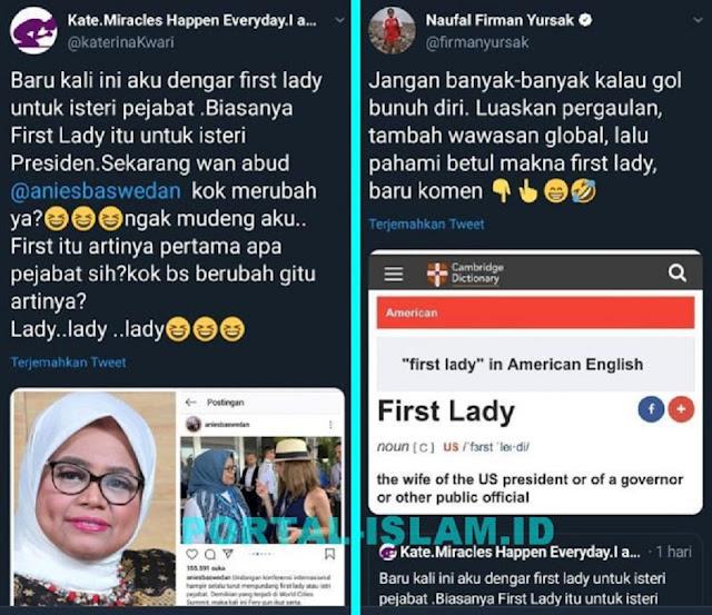 Anies Diejek Pakai Istilah 'First Lady' Untuk Istri Gubernur, Ternyata Anies Memang Benar