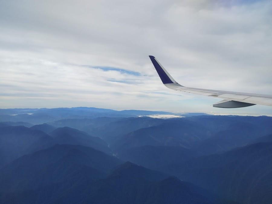 Pegunungan — foto dari pesawat, Manokwari-Jakarta 28 Oktober 2018
