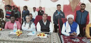 धनौरा व्हालीवाॅल प्रतियोगिता मै पहुँचे विधायक श्री शाह