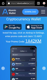 how to get free awc token atomic wallet