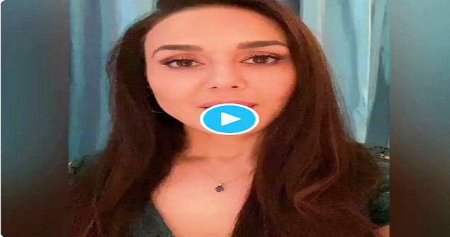 What message did Preity Zinta give in Pashto?