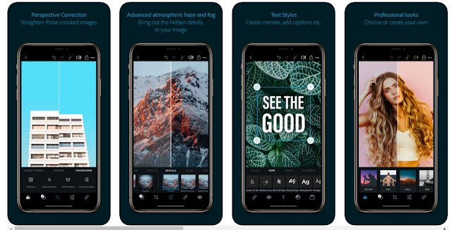 Download Adobe Photoshop Express  for iPhone and iPad
