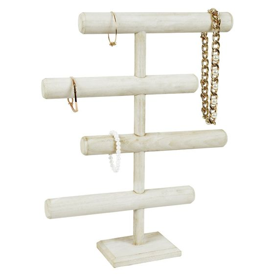 Wooden 4-Tier Jewelry Display Stand