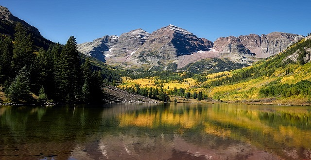 Best Beautiful Place Maroon Bells,USA And Online Travel Way In Weekend