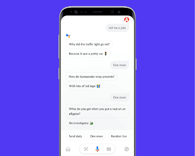 Google Assistant Can Tell You a Joke