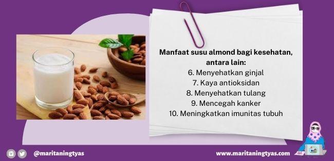 manfaat susu almond enak dan bergizi