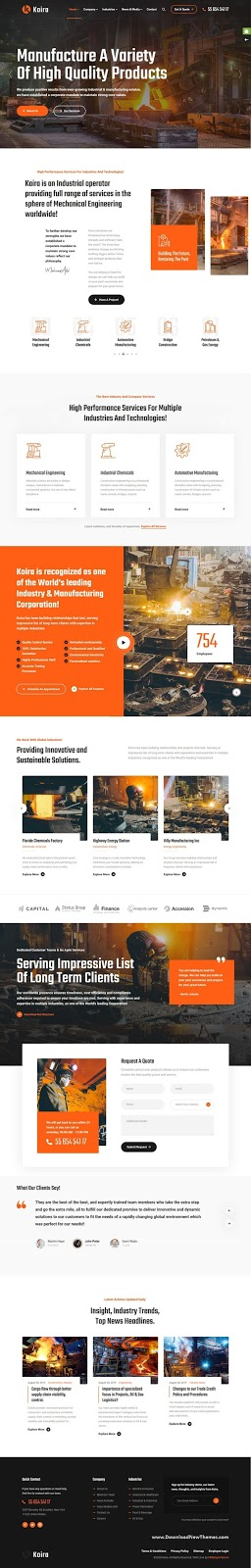 Industry and Manufacturing WordPress Theme