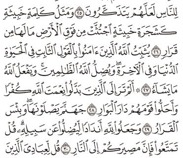 Tafsir Surat Ibrahim Ayat 26, 27, 28, 29, 30