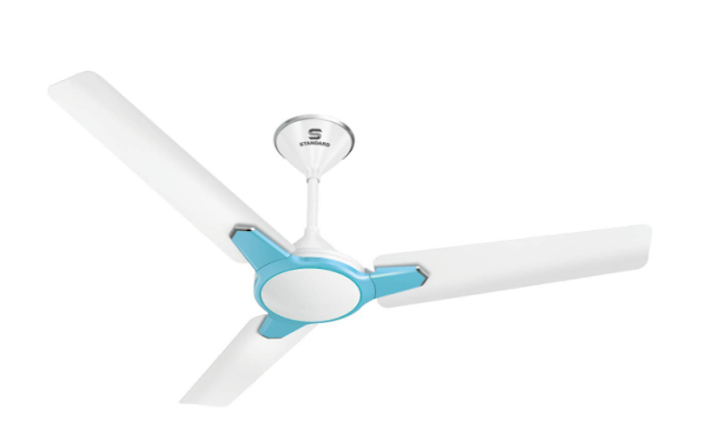 """STANDARD Havells Ceiling Fan Quite Pro 1400mm (56"""") Pearl White Baby Blue"""