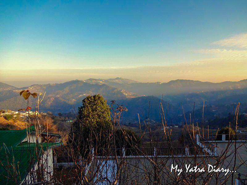 Sunrise views at Rosewood Dhanachuli Retreat, Uttarakhand