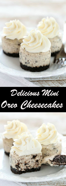 Delicious Mini Oreo Cheesecakes