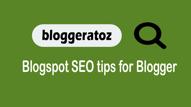 Blogspot on page SEO  Checklist Guide 2020