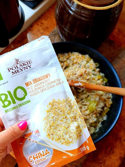 Polskie Młyny, mąka szymanowska,ryż duszony w porach, danie z ryżu, soczewica,kasza bulgur,z kuchni do kuchni, szybki obiad,danie jednogarnkowe,najlpeszy blog kulinarny,dania z ryżu,dania z kaszy,BIO kasze,