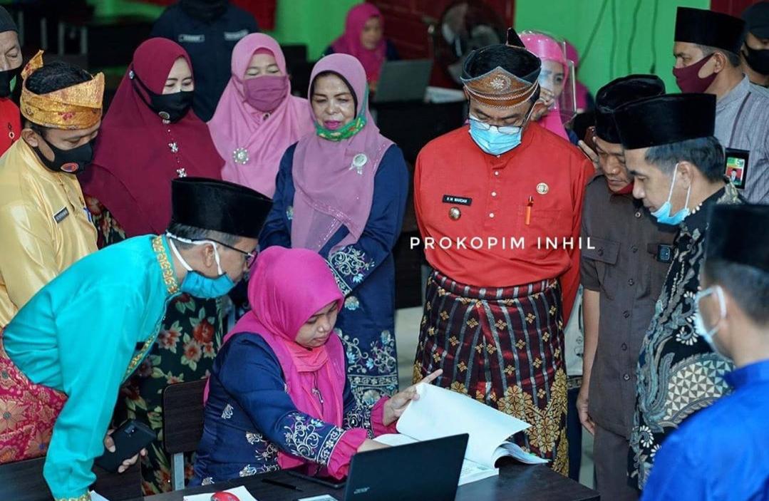 Bupati Inhil, Riau Tinjau Sistem Pembelajaran Daring di Sekolah