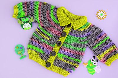 2 - Crochet Imagen Chaqueta a crochet para niño niña muy fácil y rápido por Majovel Crochet