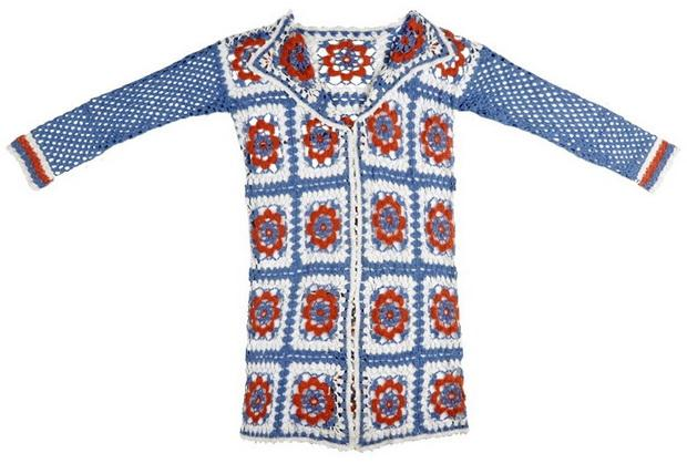 Granny square crochet cardigan pattern easy long cardigan for woman