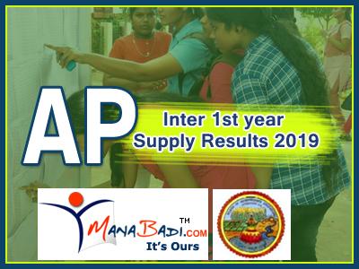 AP Inter Supply Results 2019 Manabadi | AP Inter First Year