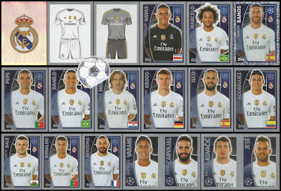 topps football stickers Champions League real madrid 2015/16