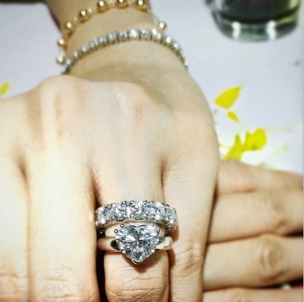 Closer look: Heart's engagement ring
