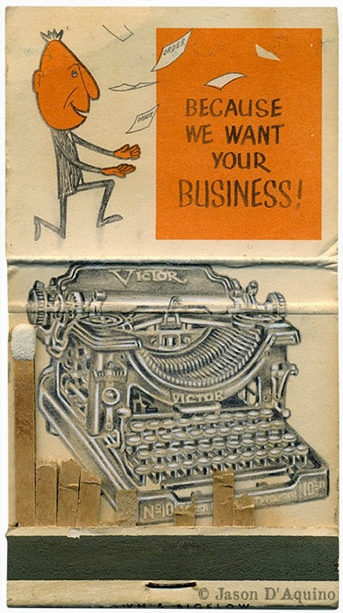20-Typewriter-Jason-D-Aquino-Vintage-Matchbook-Drawings-www-designstack-co