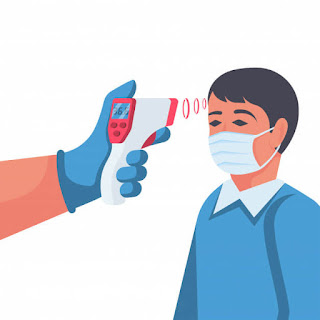 pengecekan suhu tubuh menggunakan thermo gun