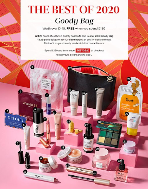 Cult Beauty Best of 2020 Goody Bag