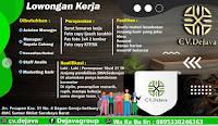 Lowongan Kerja di CV. Dejava Group Surabaya Juni 2021